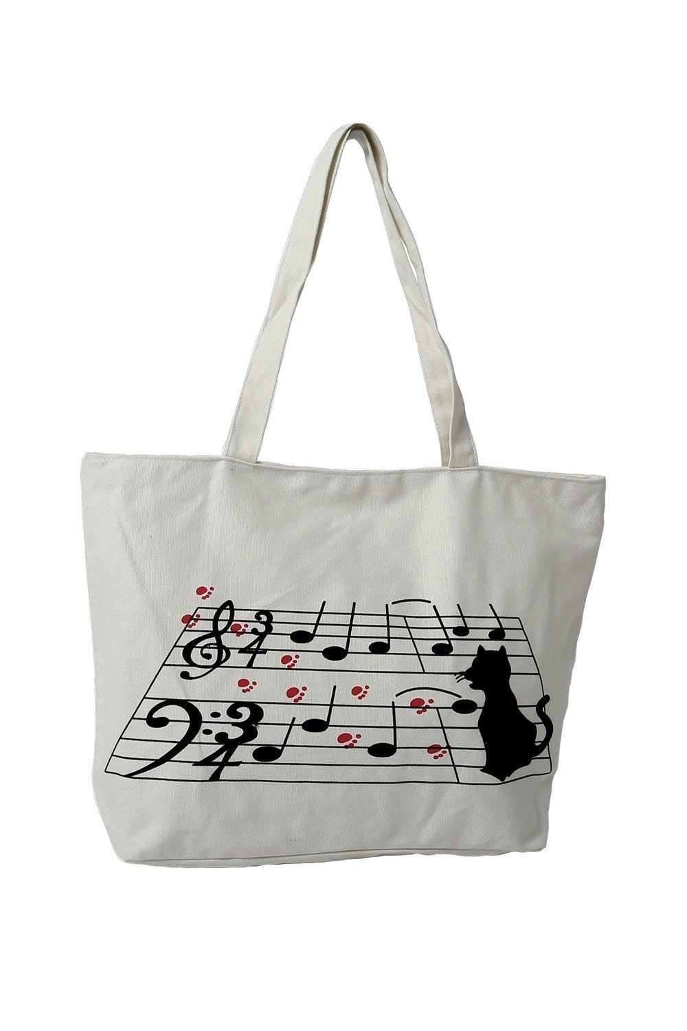 NOTES BAG WITH CAT / WHITE