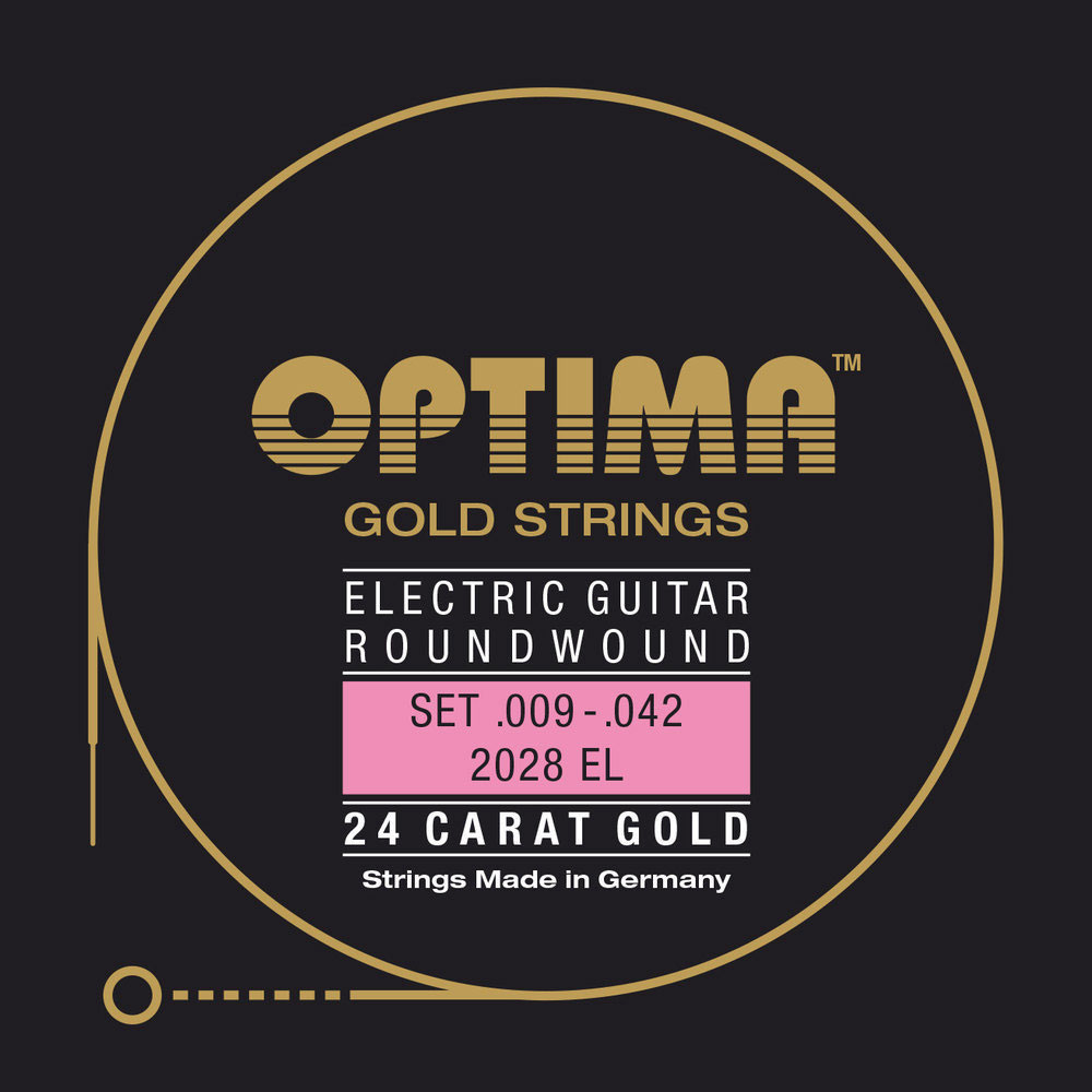 STRINGS FOR ELECTRIC GUITARS GOLD STRINGS ROUND WOUND SI2