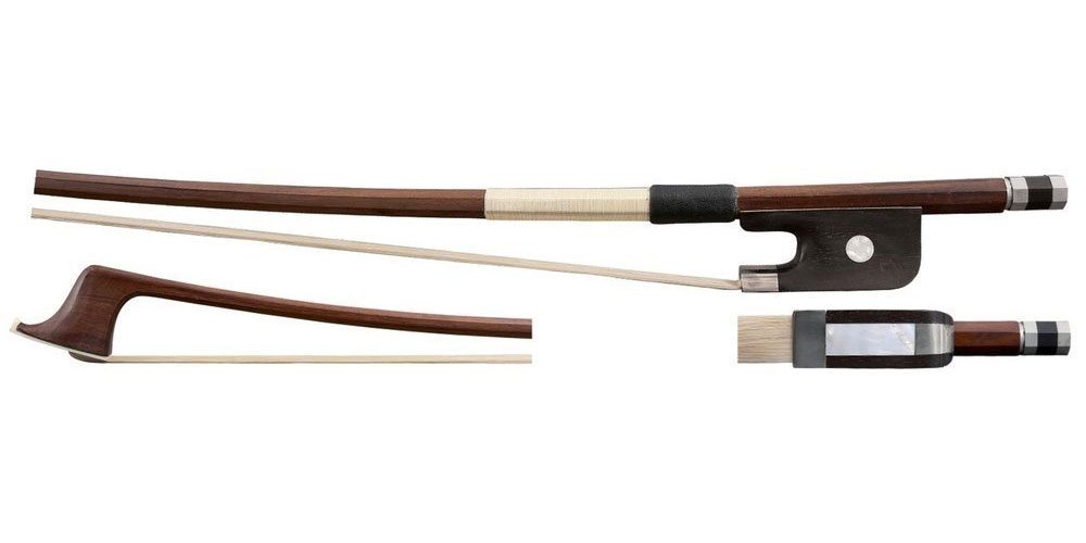 1/4 DOUBLE BASS BOW BRASIL WOOD FRENCH