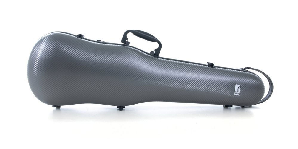 VIOLIN-SHAPED CASES POLYCARBONATE 1.8 4/4 GREY