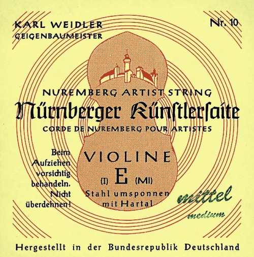 1/2 NURNBERGER KUNSTLER STRINGS FOR VIOLIN