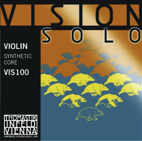 Thomastik Vision Solo Violon 4/4 Jeu De Cordes Re Argent Vis101