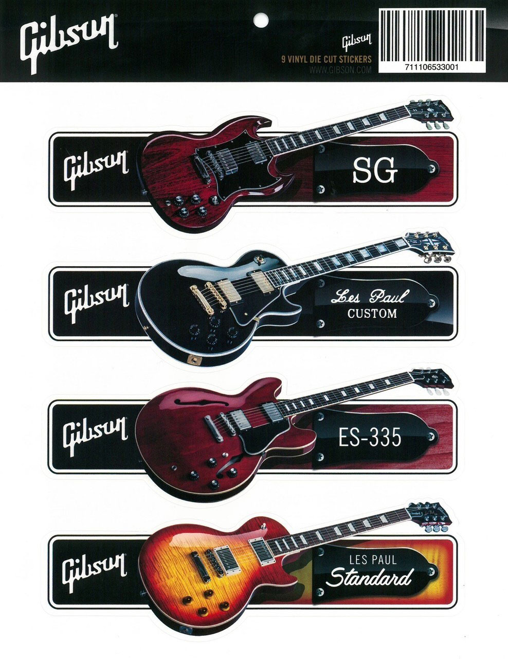 Gibson Gibson Sticker Pack