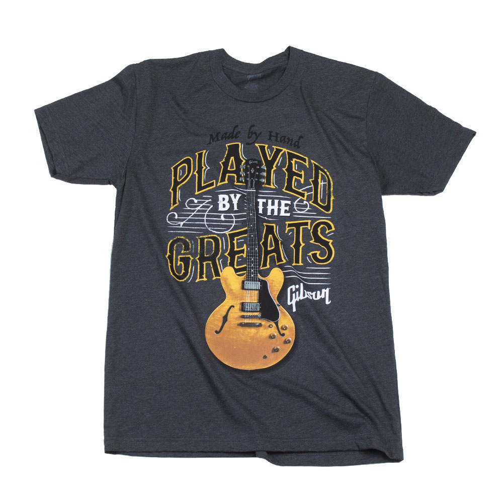 PLAYED BY THE GREATS T CHARCOAL XXL