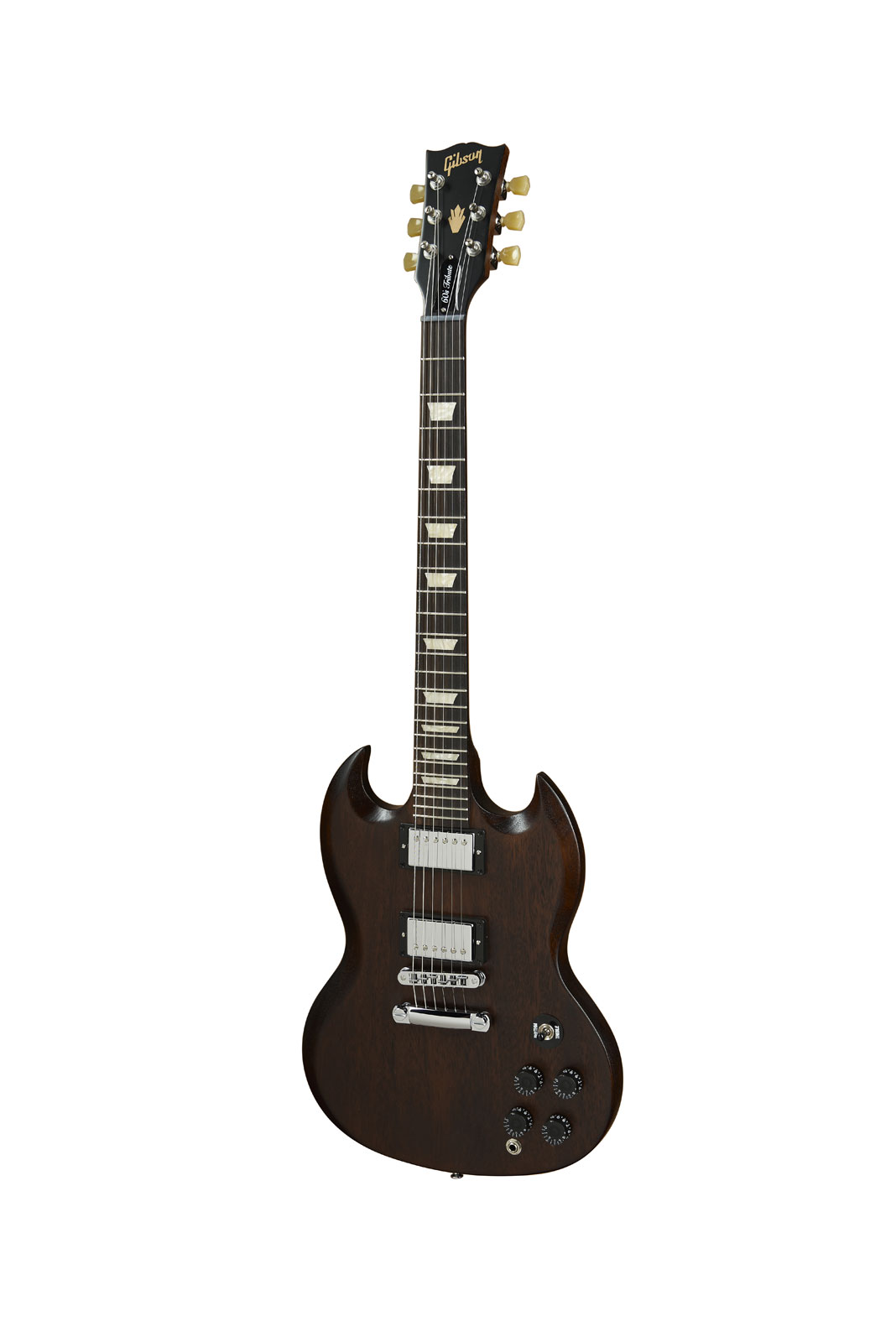 Gibson Sg Tribute 60's Min-etune Chocolate Vintage Gloss + Housse