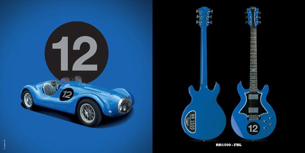 Guitare Electrique Lag Roxane Racing Bedarieux 1500 French Blue
