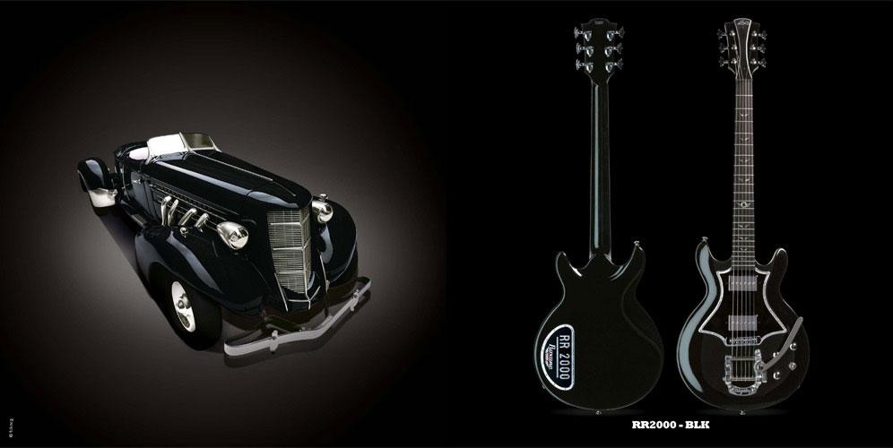 Guitare Electrique Lag Roxane Racing Bedarieux 2000 Black Bigsby
