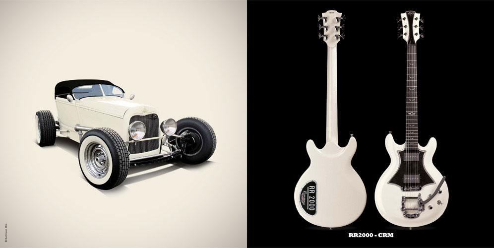 Guitare Electrique Lag Roxane Racing Bedarieux 2000 Cream Bigsby