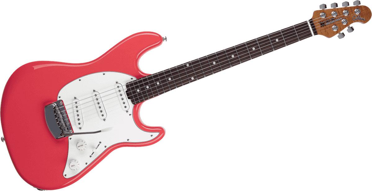 Music Man Cutlass Sss Trem Coral Red