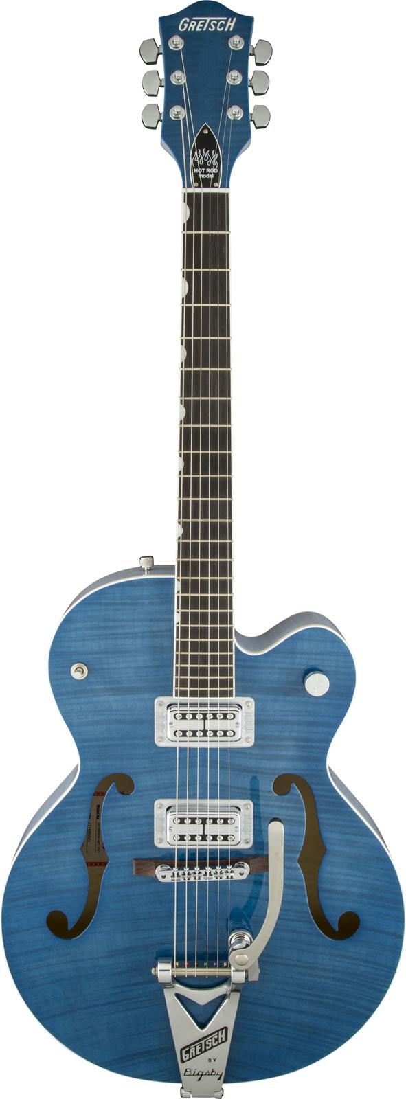 Gretsch G6120sh Setzer Hot Rod Tv Jones Setzer Signature Pickups Harbor Blue 2-tone + Etui