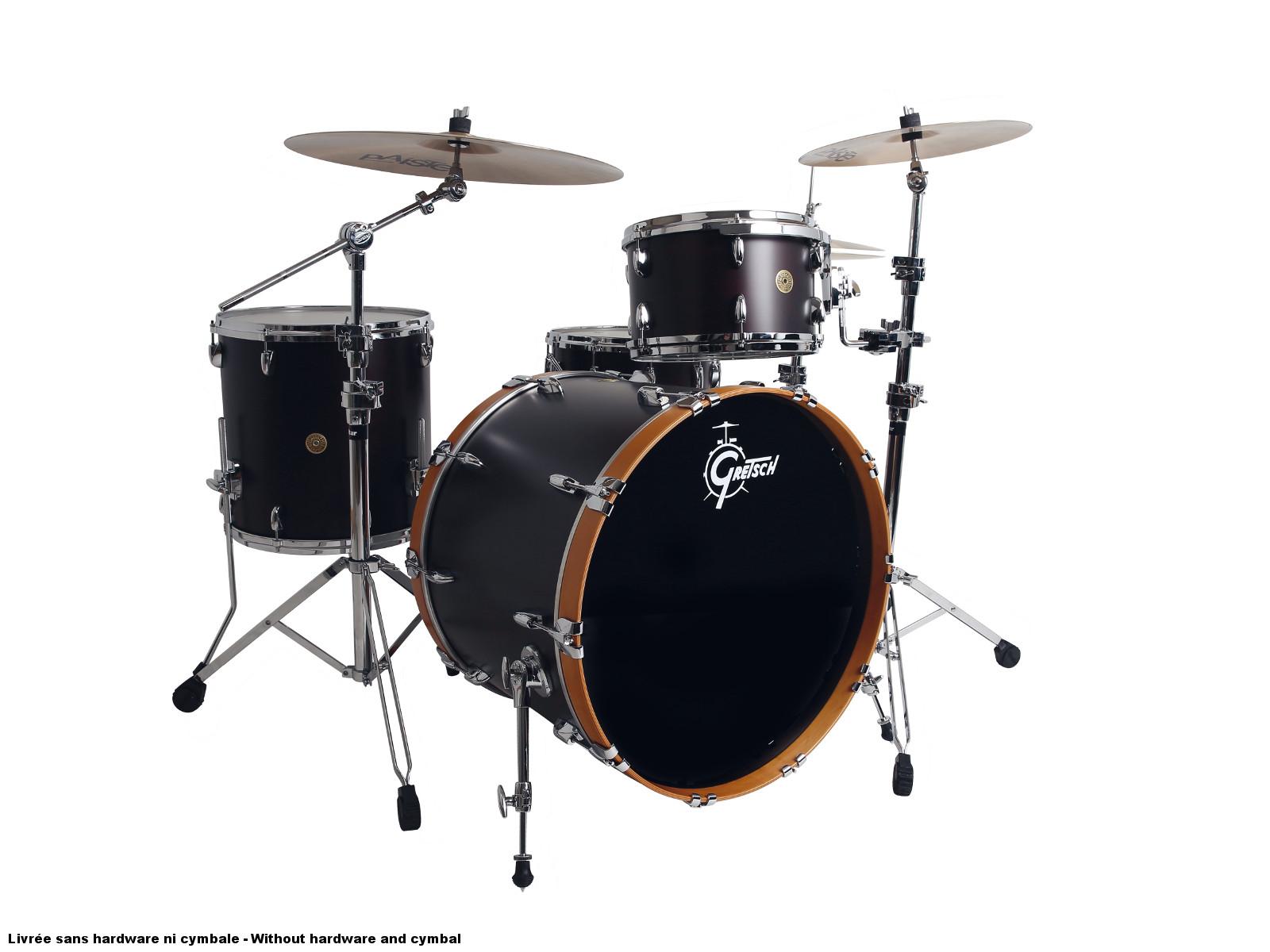 Gretsch Usa Custom 24 13 16 14x6 5 Satin Dark Walnut