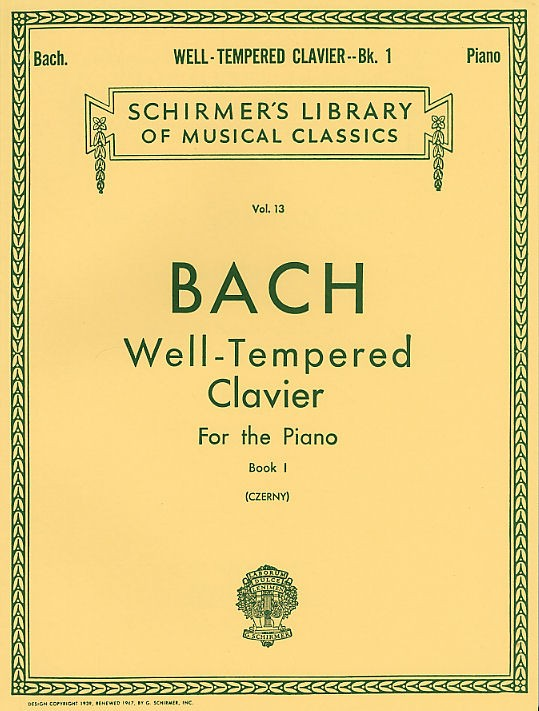 J.s Bach Well-tempered Clavier For The Piano Book I - Piano Solo