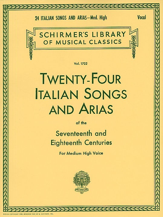 Twenty-four Italian Songs And Arias Of The 17th And 18th Centuries Md/hi - High Voice