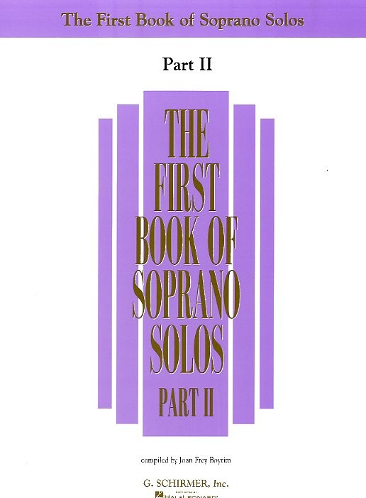 THE FIRST BOOK OF SOPRANO SOLOS PART II - SOPRANO
