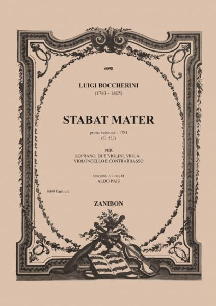 BOCCHERINI L. - STABAT MATER - CONDUCTEUR