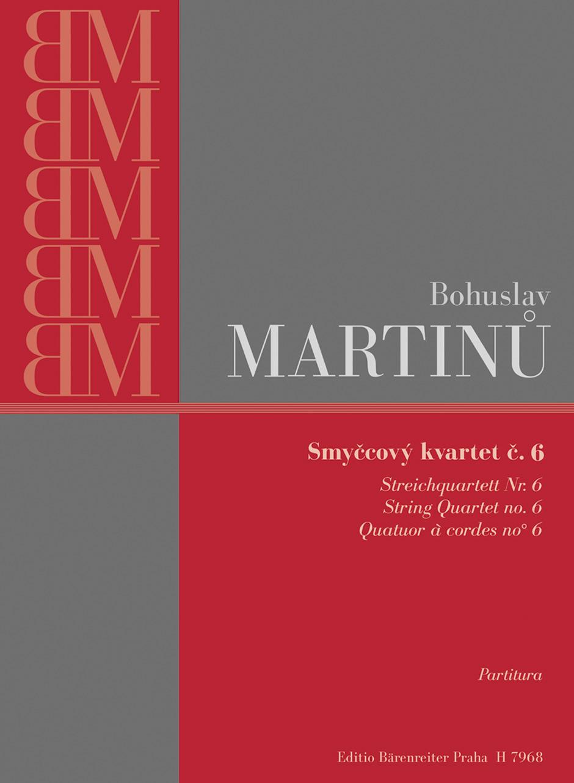 Martinu Bohuslav - String Quartet N°6 - Score