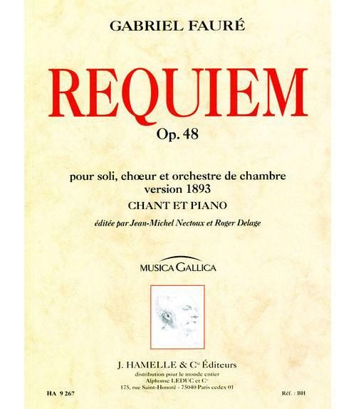 Faure Gabriel - Requiem Op.48 - Chant, Piano