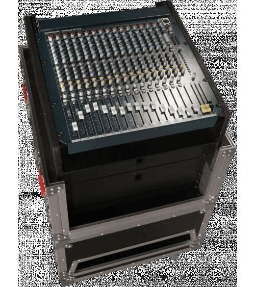 G-TOWER WOOD FOR 14 U MIXING CONSOLE WITH INTEGRATED 6 U RACK