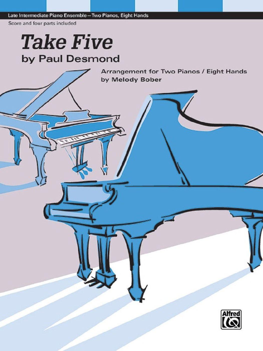 Paul Desmond - Take Five - 2 Pianos 8 Mains