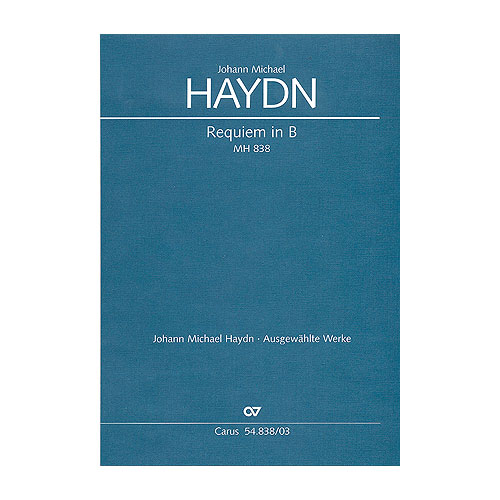 VOCAL SHEETS - HAYDN REQUIEM IN B, MH 838