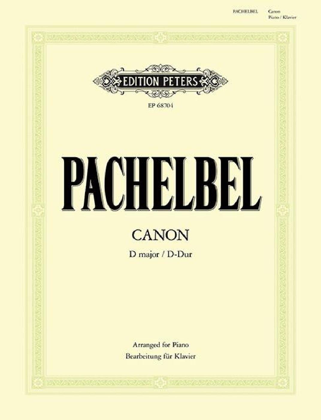 Johann Pachelbel - Canon In D Major - Piano