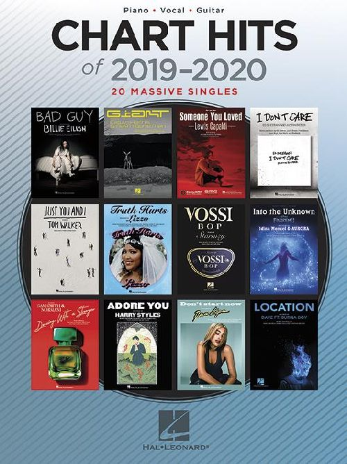 CHART HITS OF 2019-2020 - PIANO, VOCAL AND GUITARE