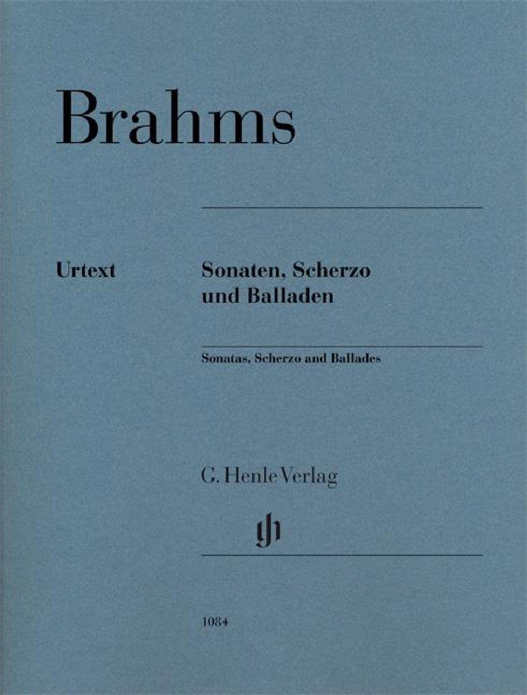 Johannes Brahms - Sonatas, Scherzo And Ballads Pb - Piano