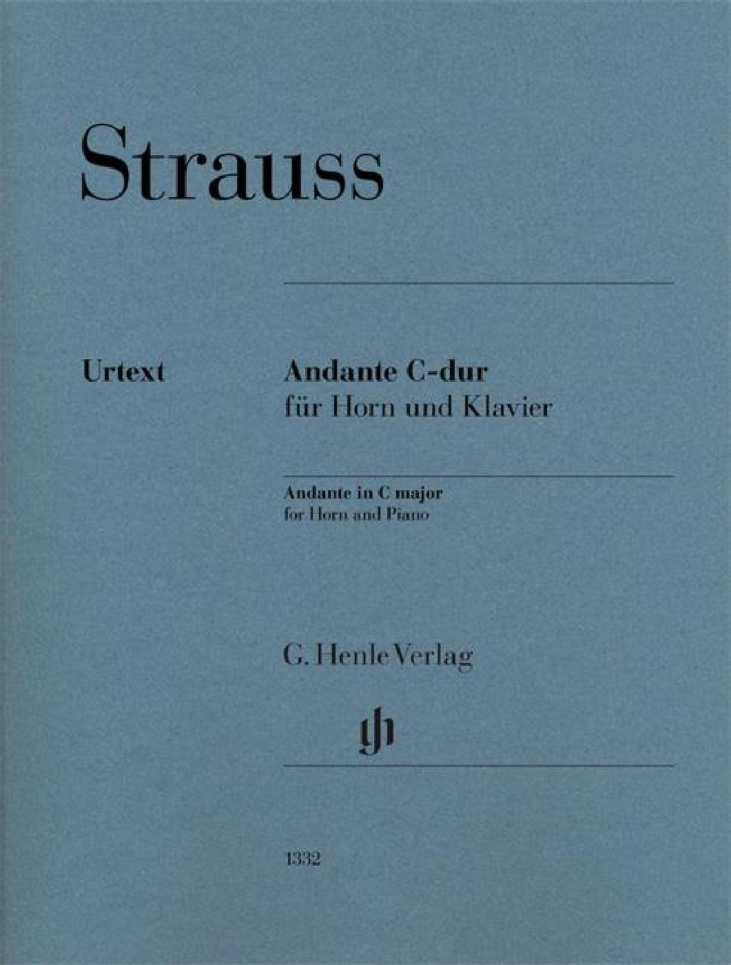 Richard Strauss - Andante In C Major For Horn And Piano - Cor Et Piano