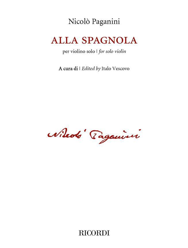 Niccolo Paganini - Alla Spagnola - Violon