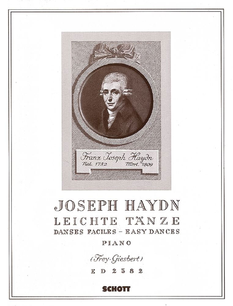 HAYDN JOSEPH - EASY DANCES HOB.IX:10 NR.1-12 - PIANO