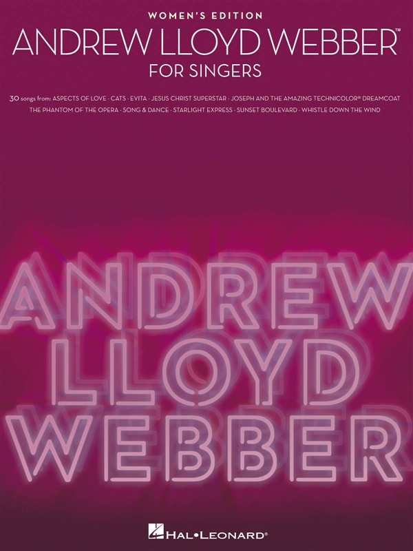 Andrew Lloyd Webber For Singers Women's Edition - Voice