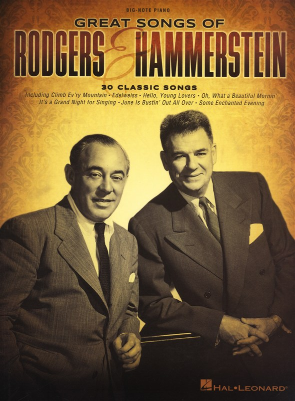 RODGERS AND HAMMERSTEIN GREAT SONGS OF BIG NOTE PF EASY - PIANO SOLO