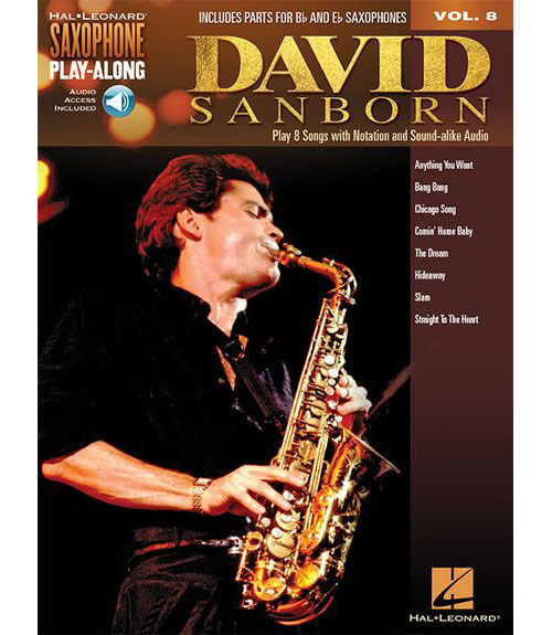 Saxophone Play-along Vol.8 - David Sanborn + Online Audio