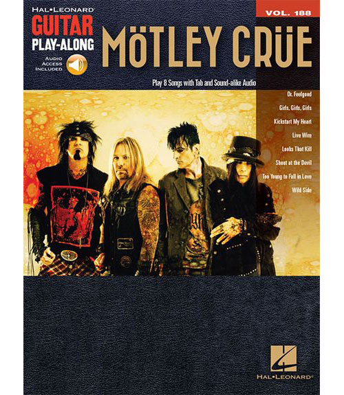 HAL LEONARD GUITAR PLAY-ALONG VOL.188 - MOTLEY CRUE