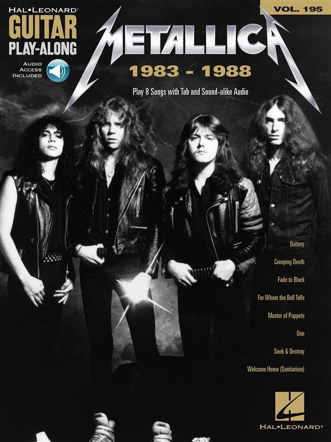 Metallica 1983-1988 -  Guitar Play Along Vol.195