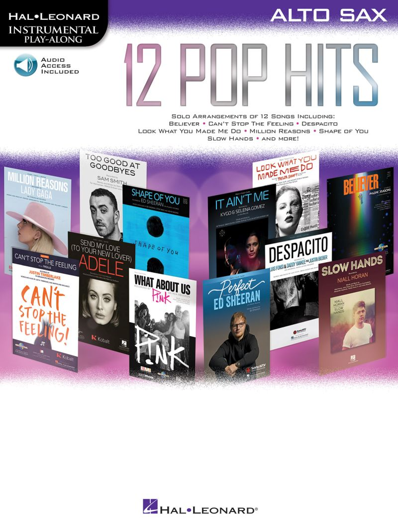 Instrumental Play Along - 12 Pop Hits + Online Audio - Alto Saxophone