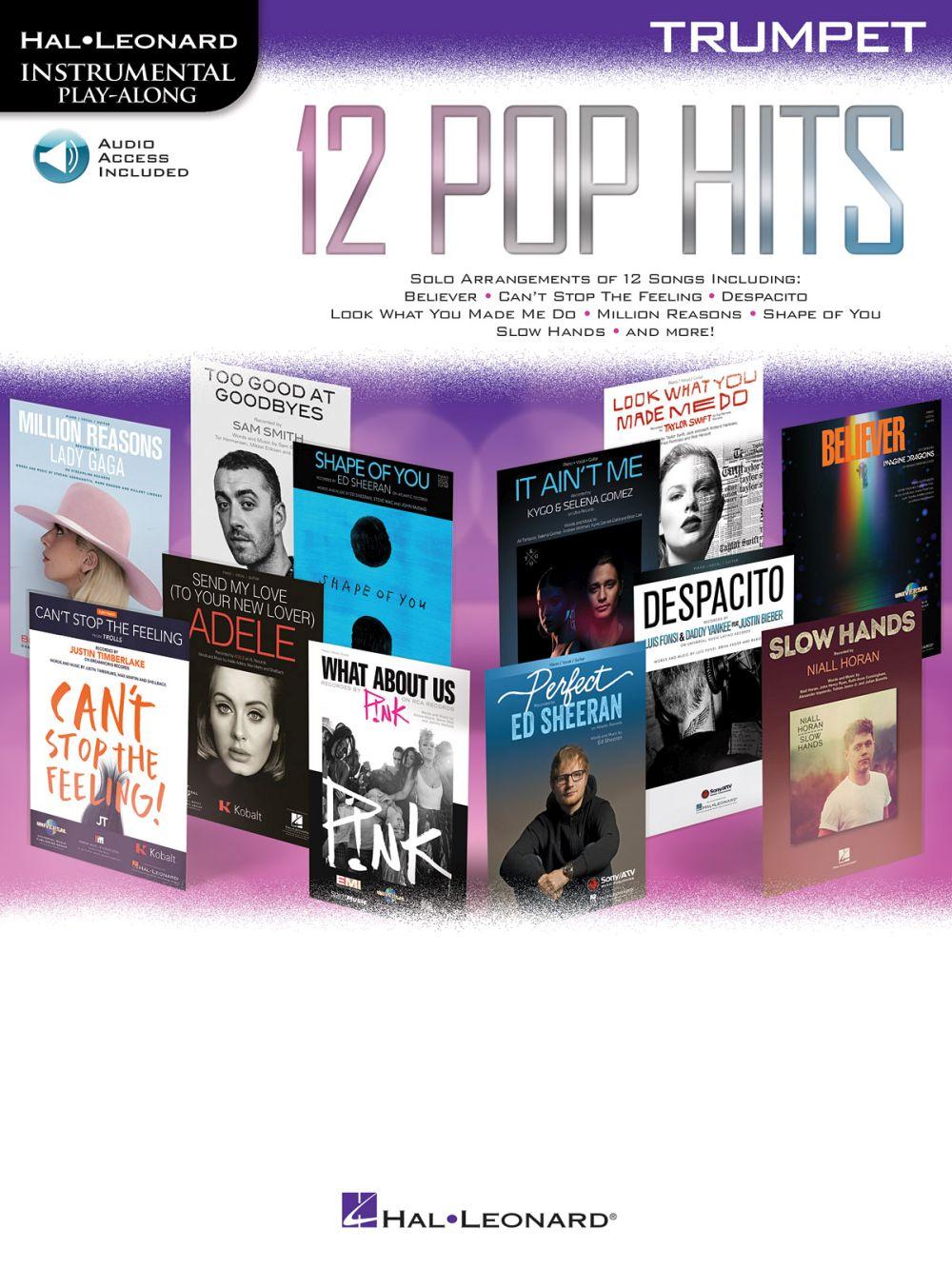 Instrumental Play Along - 12 Pop Hits + Online Audio - Trumpet