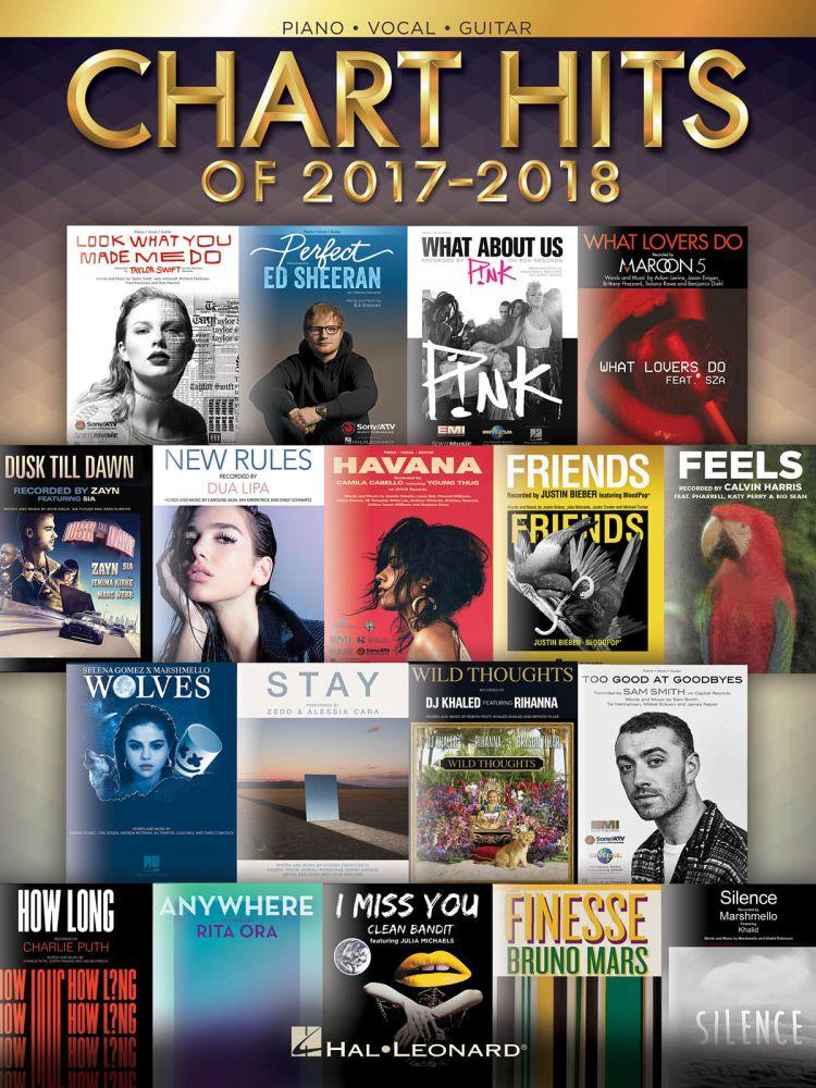 Chart Hits Of 2017-2018 - Easy Piano