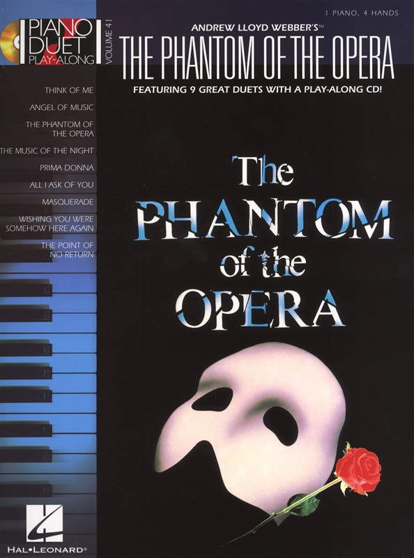 Piano Duet Play-along Volume 41 Phantom Of The Opera + Cd - Piano Duet