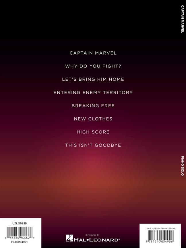 PINAR TOPRAK - CAPTAIN MARVEL SOUNDTRACK - PIANO