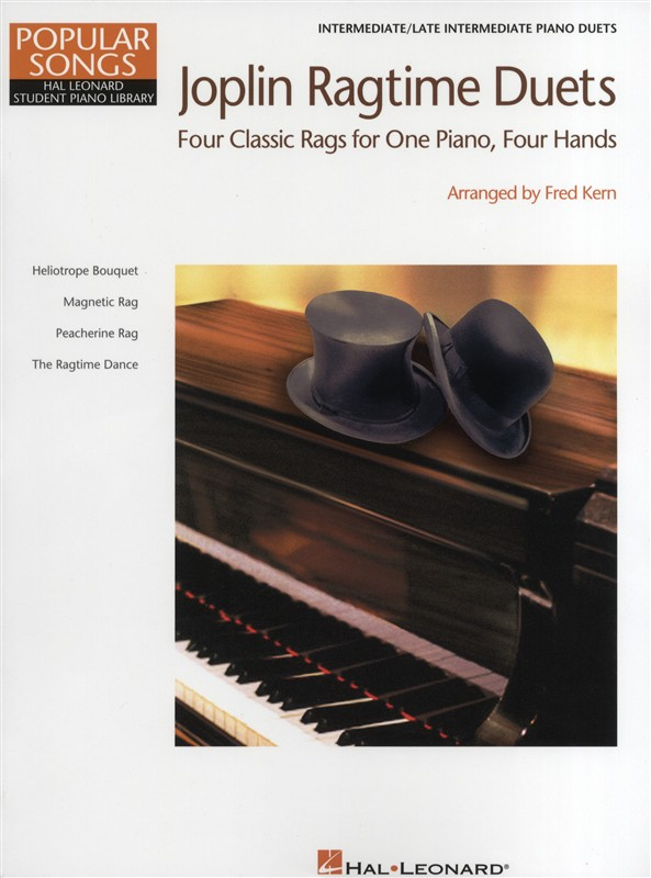 HAL LEONARD STUDENT PIANO LIBRARY - JOPLIN RAGTIME DUETS - PIANO DUET