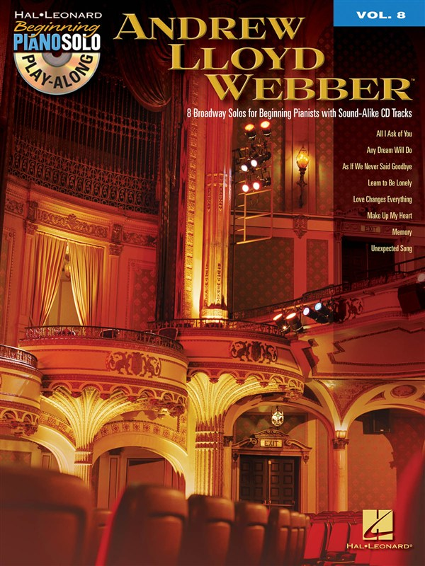 BEGINNING PIANO SOLO PLAY ALONG VOLUME 8 - ANDREW LLOYD WEBBER + CD - PIANO SOLO