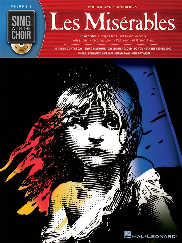 SING WITH THE CHOIR VOLUME 9 LES MISERABLES CHOR BOOK/C - SATB