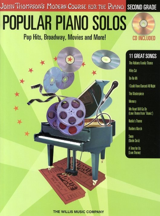 POPULAR PIANO SOLOS 2ND GRADE POP HITS, BROADWAY, MOVIES AND MORE! - PIANO SOLO