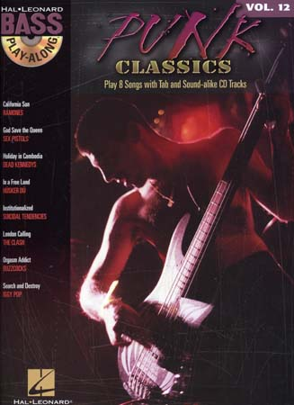 Bass Play Along Vol.12 - Punk Classics + Cd - Basse Tab