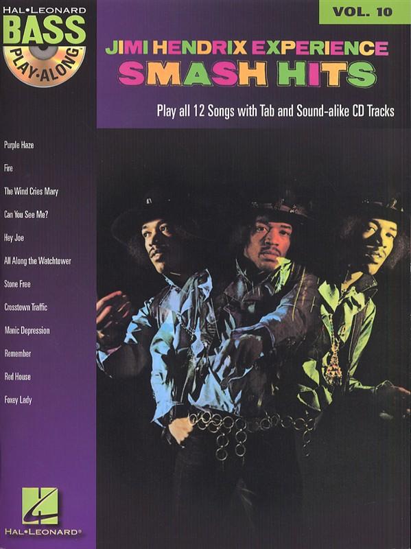 Hendrix Jimi - Bass Play Along Vol.10 - Smash Hits + Cd - Bass Tab