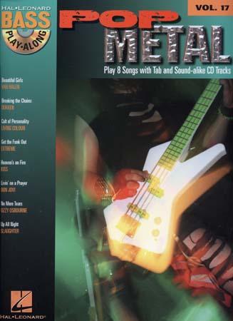 Bass Play Along Vol.17 Pop Metal + Cd - Basse Tab