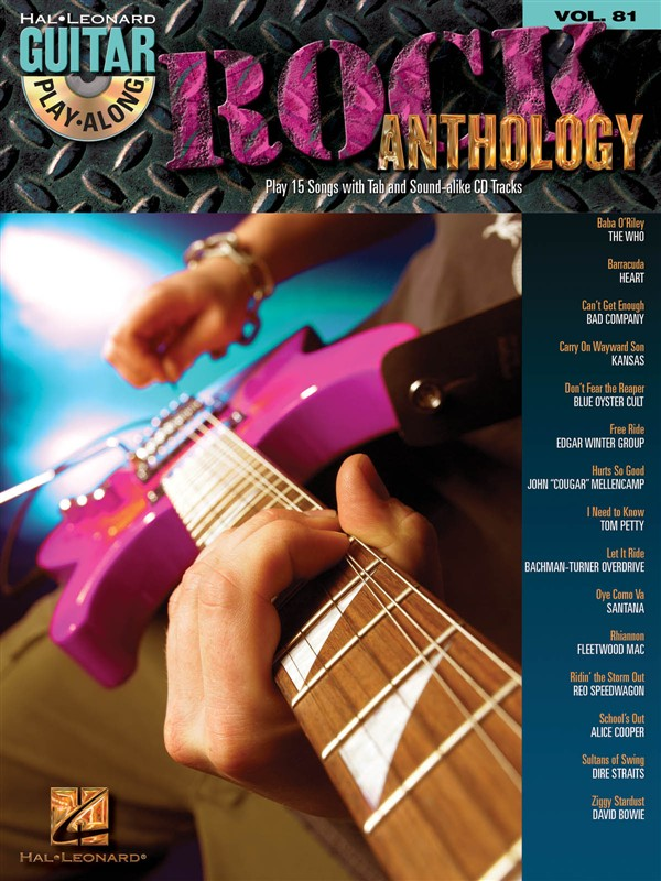 Guitar Play Along Volume 81 Rock Anthology Tab + 2cd - Guitar