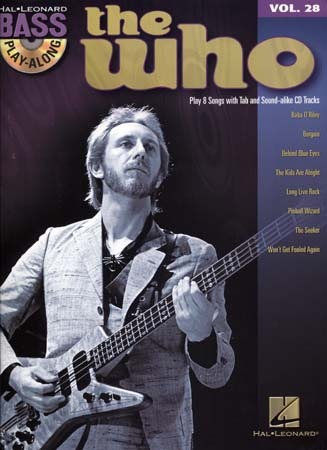 Bass Play Along Vol.28 The Who + Cd - Basse Tab