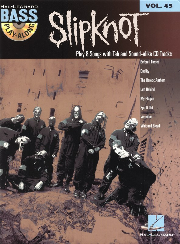 Bass Play Along Volume 45 - Slipknot + Cd - Bass Guitar Tab